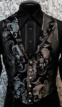 Черно-серый жаккардовый жилет