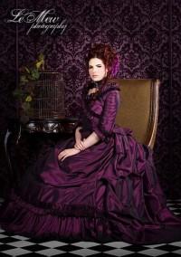 Шикарное фиолетовое платье