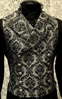 Серо-черный жаккардовый жилет